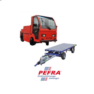 Elektroschlepper, Elektrostransporter und Industrieanhänger von Pefra